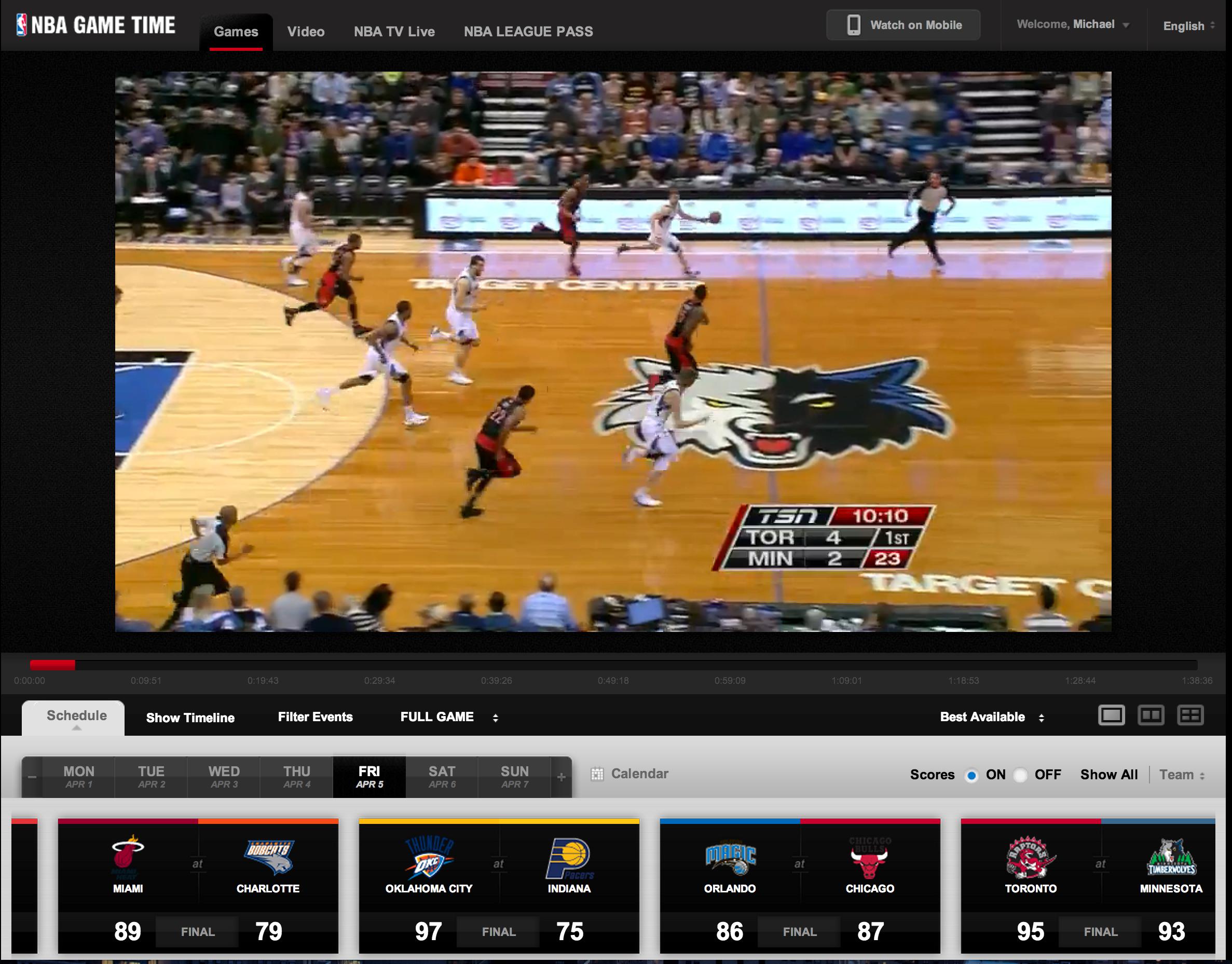 NBA Game Time - More B-Ball Than you can Handle